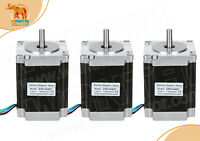 wantaI 3PCS Nema23 stepper motor 270OZ-IN (1.9N/m) 76mm length 3A mini cnc