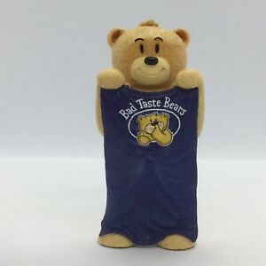 💙 'BAD TASTE BEARS' COLLECTABLE BEAR FIGURINE 'TERRY' (WITH BLUE TOWEL)
