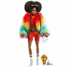 Barbie Extra Doll #1 Wearing Rainbow Coat With Pet Poodle (gvr04)