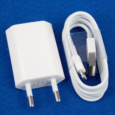 EU Euro European Wall Charger + USB Data Cable for iPhone 6 6 Plus 7 5 5S 5C