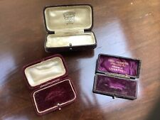 Three Antique Vintage Jewellery Boxes