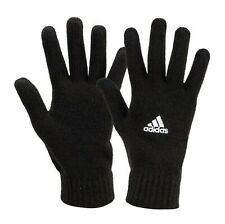 Adidas TIRO Knit Gloves Fleece Black Running Sports Fashion GYM Glove DS8874