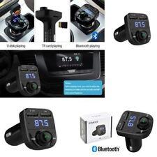Doble USB Cargador de coche manos libres inalámbrico Bluetooth transmisor FM Reproductor MP3 LCD