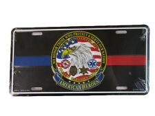 """American Heroes Police Fire Dept Honor Those 6""""x12"""" Aluminum License Plate Tag"""