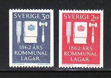 Sweden 1962 MNH Mi 487-488 Sc 610-611 Centenary of the municipal reform laws
