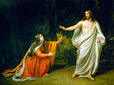 Christs Appearance to Mary Magdalene A1 by Alexander Ivanov Quality Canvas Print