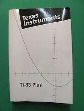 Texas Instruments TI-83 Plus Book Calculator Book.