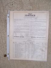 1938 Evinrude Lightfour Outboard Parts List MORE BOAT BOOKS IN OUR STORE  L