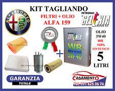 KIT TAGLIANDO FILTRI + OLIO SELENIA 5W40 ALFA 159 1.9 JTD MTJ 110KW 09/05 -06/10