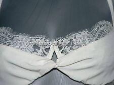 NWT ROSAMOSARIO Italy chantilly lace bra demi $178 34D Italian bridal lingerie