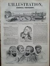L'ILLUSTRATION 1844 N 95  PORTRAITS DE QUATRE CHEFS ARABES - PORTRAIT DE KRYLOFF