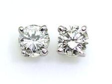 0.25 Carati Diamante Orecchini IN 14k Oro Bianco