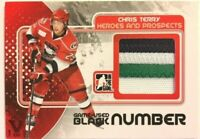 2010-11 ITG Heroes & Prospects Game-Used Number Black Chris Terry Vault Red 1/1