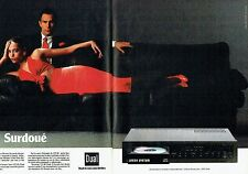Publicité Advertising 057  1985  Dual ( 2pages)   platine laser cd 40