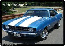 1969 Camaro Z28 Blue Refrigerator Magnet