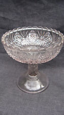 Antique Pressed Glass Jabot Jelly Compote