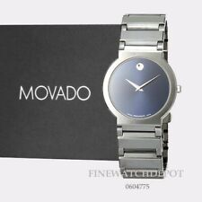 Authentic Movado Men's Valor Tungsten Carbide Blue  Case and Band Watch 0604775