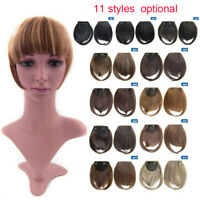 UK Thin Neat Air Bangs  Human Hair Extensions Clip in on Fringe Front Bang Nice