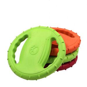 Flying Dog Frisbee Toy Disc Outdoor Fun Beach Fetch Frisby Game Garden Throwing