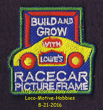 LMH PATCH Badge '05 RACE CAR  Picture Frame Racecar LOWES Build Grow Kids Clinic