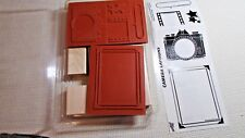 New Unmounted Wood Camera Captions 1998 Rubber Stamps By Stampin Up!