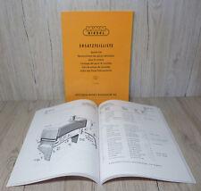 Ersatzteilliste Dieselmotor MWM D 308 - 2  D308 - 3