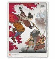 Sekiro Shadows Die Twice Japanese Edo Style Giclee Poster Print 12x17 Mondo