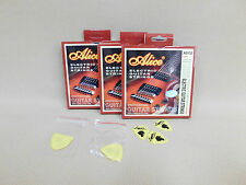 Alice AE532 Premium Electric Guitar Strings Nickel Lite (10 - 46) + Picks 3 PACK