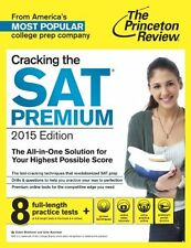 Cracking the SAT Premium Edition with 8 Practice Tests, 2015 (College Test Prepa