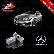 Car LED Door Laser Projector White AMG Logo Lights For Mercedes-Benz C E CLA CLS