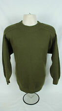 Turnbull and Asser Soft Merino Wool Crewneck Sweater Army Green Men's Medium