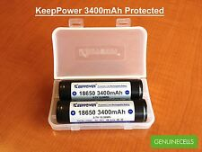 2x Keeppower Protected 18650 3400mAh with Panasonic NCR18650B Li-ion Battery PCB