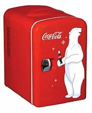 COCA-COLA BEAR ~  BEVERAGE 6-CAN MINI FRIDGE SMALL COMPACT   Office Dorm Cooler