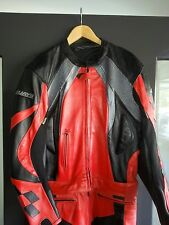 Rjays Leather 2 Piece Race Suit- Black/Red/Grey- Size 46