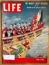 LIFE Magazine April 4, 1955 Religion in the Land of Confucius, Part III