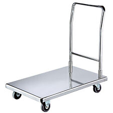 Heavy Duty Flat Bed Self Assembly Stainless Steel Platform Trolley