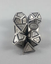Floating Face Polyhedral 7-Die Set Solid Steel - Gaming Dice
