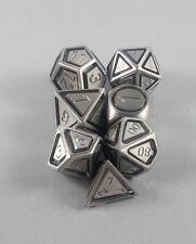 Floating Face Polyhedral 7-Die Set Solid Steel - Gaming Dice