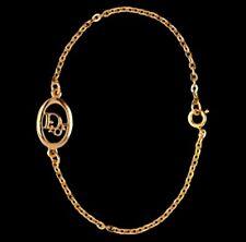 Christian Dior Hallmark Symbol Bracelet Gold Plated  4 grams