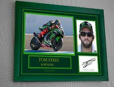 """TOM SYKES  Motor Cycle Framed Canvas Print Signed """"Great Gift"""""""