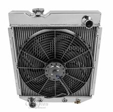 1961 62 63 64 65 Mercury Comet 2 Row Champion Alum Radiator Fan Combo