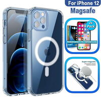 CLEAR MAGNETIC MAGSAFE Case For iPhone 12 Pro Max Mini Shockproof Cover Skin