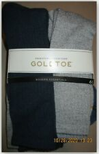 Signature Collection Gold Toe 6 Pr Modern Essentials perfect fit breathable sock
