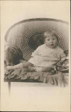 Blackpool. Young girl dog chair 'Camera Portrait  JP Bamber' 66 Church St QR1368