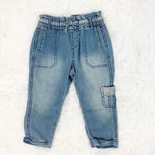 abercrombie Kids NWT Girls 3/4T Elastic Waist Cargo Chino Jeans