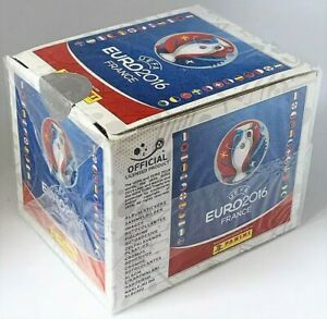 2016 Panini UEFA EURO France - Sealed Sticker Box with 50 packs - NEW
