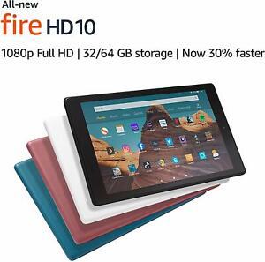 "Amazon Fire HD 10"" Tablet with Alexa Hand Free, 32GB, Full HD, 2019 Model !!"