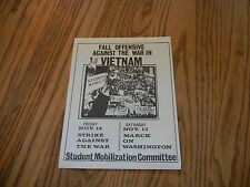 Original 1969 Flyers / March on Washington End the War in Vietnam Nov. 13-15