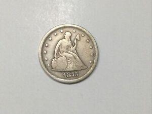 1875 s  U.S. Twenty cent coin