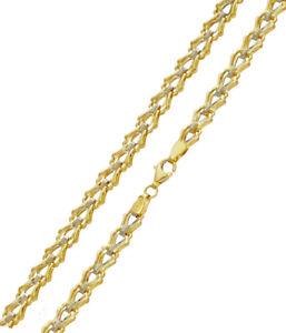 Goldkette Halskette Bicolor Zweifarbig Gold 585er 14KT 45 cm x 6,20 mm